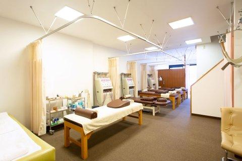 もり鍼灸整骨院の施術室です。